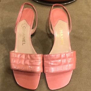Quilted Chanel Pink  sandal 37 PRICE IS FIRM